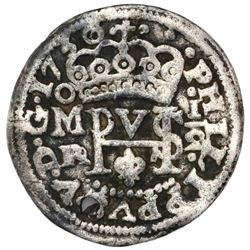 Mexico City, Mexico, cob 1/2 real Royal (galano), 1730/28R/D, very rare, ex-Rudman.