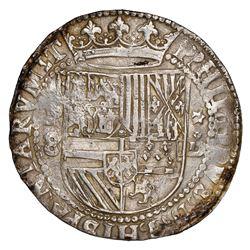Lima, Peru, cob 8 reales, Philip II, assayer Diego de la Torre, P-8 to left, *-oD to right, NGC AU 5
