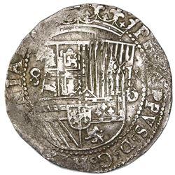 Lima, Peru, cob 8 reales, Philip II, assayer Diego de la Torre, *-8 to left, P-oD to right, ex-Jones