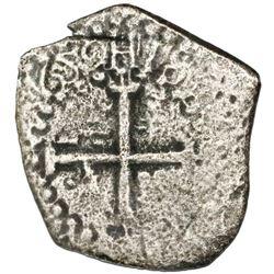 """Lima, Peru, cob 1/2 real, 1659(V), """"Star of Lima"""" Type, rare."""