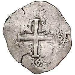 Lima, Peru, cob 8 reales, 1686R, ex-Bir, ex-Jones (Plate Coin).