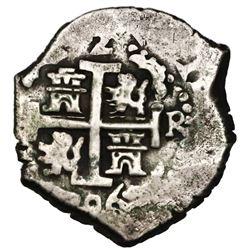 Lima, Peru, cob 2 reales, 1706R, ex-Jones (Plate Coin).
