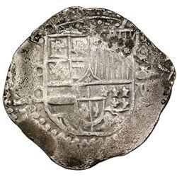 Potosi, Bolivia, cob 8 reales, Philip III, assayer C, rare.