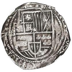 Potosi, Bolivia, cob 8 reales, 1629T, denomination 8, fine-dot borders, NGC XF 45.