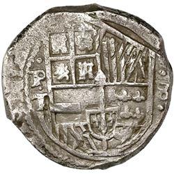 Potosi, Bolivia, cob 8 reales, (1)630T.