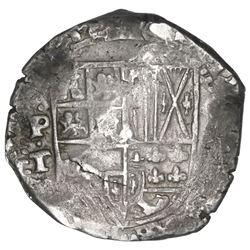 Potosi, Bolivia, cob 8 reales, 1633T.