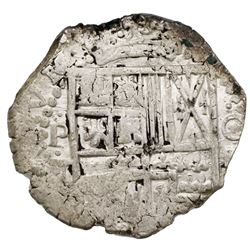 Potosi, Bolivia, cob 4 reales, (16)29T, very rare.
