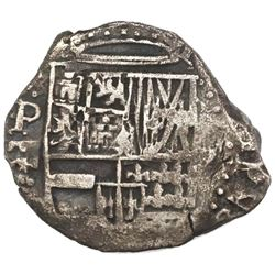 Potosi, Bolivia, cob 2 reales, 1630T, rare, ex-Concepcion (1641), ex-Rudman.