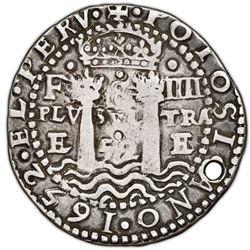 Potosi, Bolivia, cob 8 reales Royal (galano), 1652E Transitional Type V, very rare, NGC VF details /