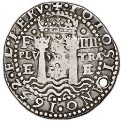 Potosi, Bolivia, cob 8 reales Royal (galano), 1652E Transitional Type V, very rare, NGC VF details /