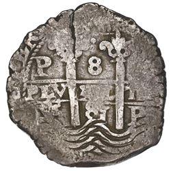 Potosi, Bolivia, cob 8 reales, 1681V.