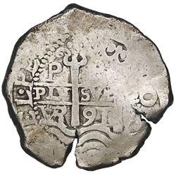 Potosi, Bolivia, cob 8 reales, 1691VR.