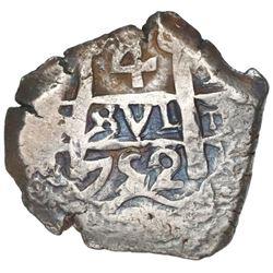 Potosi, Bolivia, cob 4 reales, 1752q.