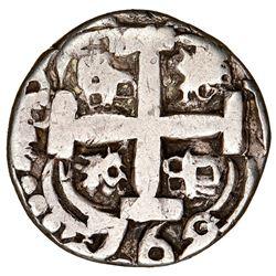 Potosi, Bolivia, cob 2 reales Royal (galano), 1762V-Y-V, extremely rare (unlisted), NGC VF 30.