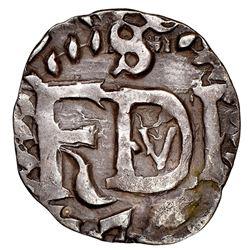 Potosi, Bolivia, cob 1/2 real Royal (galano), 1747, Ferdinand VI, extremely rare (unlisted), NGC XF