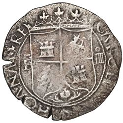 Santo Domingo, Dominican Republic, 4 reales, Charles-Joanna, assayer F to the left, extremely rare,