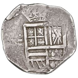 Bogota or Cartagena, Colombia, cob 4 reales, Philip IV, assayer not visible, mintmark R(N) to left O