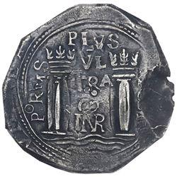 Bogota, Colombia, cob 8 reales, 1651, assayer PoRMS, rare, PCGS VF30, ex-Eldorado.