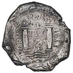 Bogota, Colombia, cob 8 reales, 1651, assayer PoRMOS, rare, ex-Eldorado.