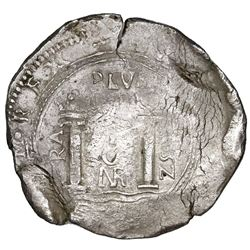 Bogota, Colombia, cob 8 reales, 1652, assayer PoRAS to left, rare, ex-Jones (Plate Coin).