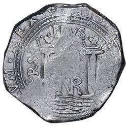Bogota, Colombia, cob 8 reales, Philip IV, assayer PoRS (1655-56), rare, ex-Geiger.
