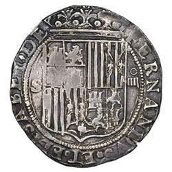 Seville, Spain, 4 reales, Ferdinand-Isabel, assayer Gothic D to right of yoke on reverse, legends en