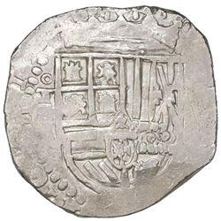 Toledo, Spain, cob 4 reales, Philip II or III, assayer C between mintmark oT and denomination 4 to l