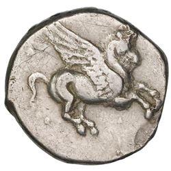 """Akarnania, Leukas, AR stater """"pegasus,"""" 4th century BC."""
