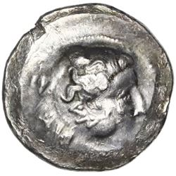 Celtic imitation of a Greek tetradrachm, ca. 2nd century BC, Danubian series.