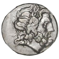 Thessaly, Thessalian League, AR double-victoriatus, 2nd-1st centuries BC, NGC XF, strike 4/5, surfac