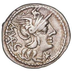 Roman Republic, AR denarius, M. Vargunteius, 130 BC, Rome mint.