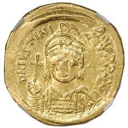 Byzantine Empire, AV solidus, Justinian I, 527-565 AD, Constantinople mint, NGC Choice AU, strike 4/