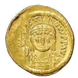 Byzantine Empire, AV solidus, Justin II, 565-578 AD, Constantinople mint.