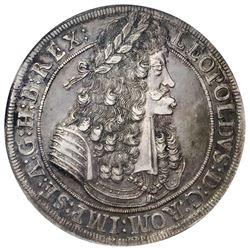 Austria, taler, Leopold I, 1694, Hall mint, NGC AU 53.