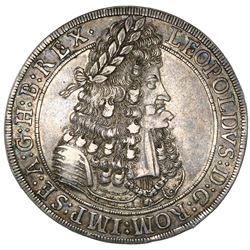Austria, taler, Leopold I, 1695, Hall mint, NGC AU 55, ex-Jones (Plate Coin).