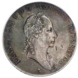 Austria, taler, Franz I, 1825-A, Vienna mint, PCGS MS62, finest known in PCGS and NGC censuses.