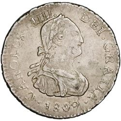 Potosi, Bolivia, bust 1/2 real, Charles IV, 1809PJ.