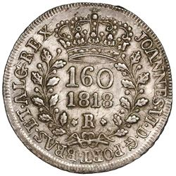 Brazil (Rio mint), 160 reis, Joao VI, 1818-R.