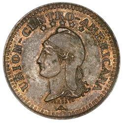 Central American Union, bronze essai 1 centavo, 1889, NGC MS 62 BN.