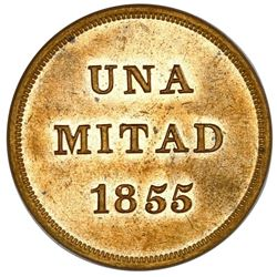 Magdalena, Colombia (struck by Scovill Manufacturing, Waterbury, Connecticut), brass una mitad (half