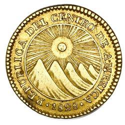 Costa Rica (Central American Republic), gold 2 escudos, 1828F, NGC AU 53.