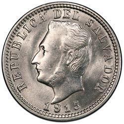 El Salvador, copper-nickel 3 centavos, 1915, PCGS MS63.