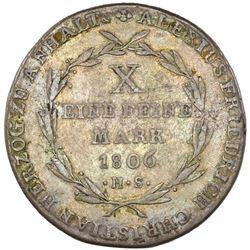 Anhalt-Bernburg (German States), taler, 1806-HS, Alexius Friedrich Christian, NGC VF 35.