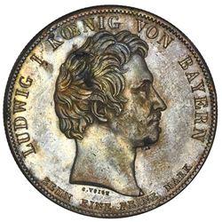 Bavaria (German States), taler, 1828, Ludwig I, royal family.