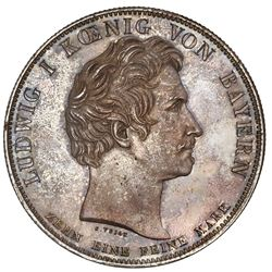 Bavaria (German States), taler, 1828, Ludwig I, 10th anniversary of the Constitution, NGC MS 62.
