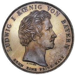 Bavaria (German States), taler, 1830, Ludwig I, Loyalty, NGC MS 63.