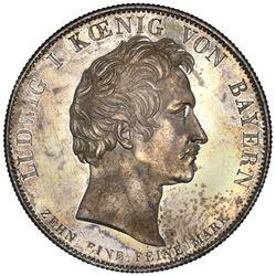 Bavaria (German States), taler, 1835, Ludwig I, Bavarian Mortgage Bank establishment, NGC MS 62.