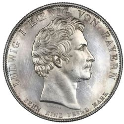 Bavaria (German States), taler, 1837, Ludwig I, Order of Merit, NGC MS 63 PL.