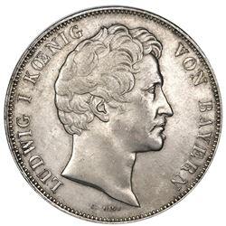 Bavaria (German States), taler, 1837, Ludwig I, Monetary Union.