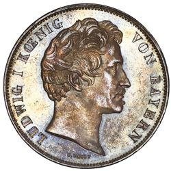 Bavaria (German States), 2 taler, 1841, Ludwig I, Jean Paul Friedrich Richter, NGC UNC details / sta